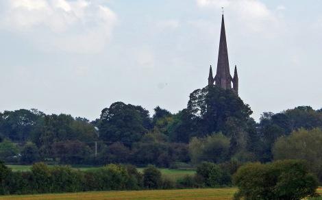 Weobley, steeple